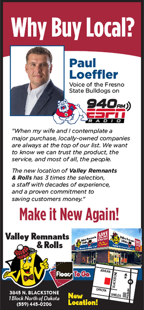 Buy Local at Valley Remnants and Rolls in Fresno - Make it new again!